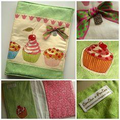 Capa para livro de receitas com uns deliciosos cupcakes.