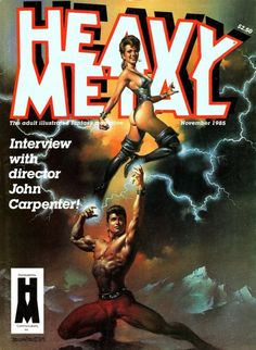 When I was my cousin, Jeff, unwittingly lead me to the Fantasy Art Genre with this issue of Heavy Metal Magazine from Nov feat. a cover by Boris Vallejo. Heavy Metal Movie, Heavy Metal Rock, Metal Magazine, Magazine Art, Magazine Covers, Boris Vallejo, Creepy Images, Horror Comics, Art Station