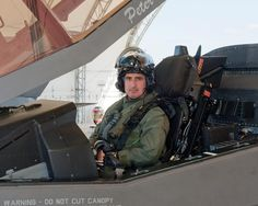 Now: U.S. Marine Col. Art Tomassetti in the cockpit of F-35B test aircraft BF-1 April 2, 2012, before his first flight in an F-35 Lightning II Joint Strike Fighter at Naval Air Station Patuxent River, Md. On April 3, Tomassetti became the first pilot to fly all three variants of the X-35 and the F-35. (Photo courtesy of Lockheed Martin)