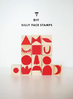 We love to make stamps out of simple shapes – you can see our first go at making geo stamps in this post here. Recently we made another set with the idea of making silly faces out of them. Crafts For Kids To Make, Projects For Kids, Craft Projects, Foam Crafts, Diy Crafts, Ideas Paso A Paso, J Birds, Activities For Boys, Homemade Art