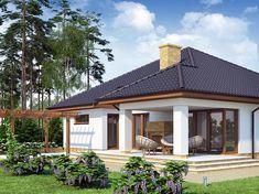 Projekt domu Kroton 116,1 m2 - koszt budowy 238 tys. zł - EXTRADOM Gazebo, Pergola, Cottage Style Homes, Exterior, Outdoor Structures, Cabin, House Styles, Outdoor Decor, Home Decor