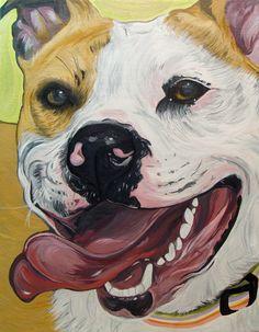 """Nala"" - Pit Bull (artwork by Steph Fitzsimmons)"