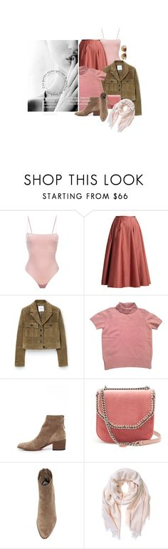 """Chut! Cela Doit Rester Entre Nous / Shush!  This Must Remain Between Us"" by halfmoonrun ❤ liked on Polyvore featuring Fleur du Mal, Rochas, MANGO, Kenzo, Dolce Vita, STELLA McCARTNEY, Mint Velvet, Ray-Ban and velvet"