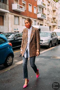 Street Style Trends, Milan Fashion Week Street Style, Fall Street Styles, Estilo Olivia Palermo, Olivia Palermo Street Style, Foto Fashion, Style Fashion, Fashion Beauty, Cooler Look