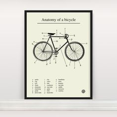 If you're a visual person and like to learn things visually. This Anatomy of a Bicycle is awesome for you.