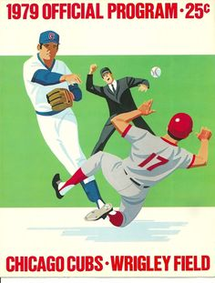 1979 Chicago Cubs Program scorecard vs. Dodgers WRIGLEY FIELD unscored #ChicagoCubs