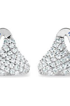 $150 - HERSHEY'S KISSES CZ Stud Earrings.  Quality - Sterling Silver    Size - 12.35 x 12.80 MM     Finish - Polished     Series Description - FLAT BACK CUBIC ZIRCONIA HERSHY KISS STUD EARRING     Matching Necklace: ST-85206     Macthing Dangle Earrings: ST-85211     Matching Bracelet: ST-85209     Weight: 2.15 DWT ( 3.34 grams)     ST-85210    Visit our website at http://www.thesgdex.com  The Silver Gold & Diamond Exchange  WE BUY | SELL | TRADE | CONSIGN | AUCTION | APPRAISE