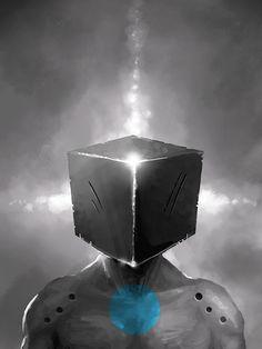 Cubeman by Mateusz Waliszewski, via Behance
