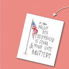 VOTER POSTER 2020, your vote matters, vote registration, election print, US flag, watercolor, election poster, printable, typography