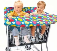 Products Made Just for Twins: Twin Shopping Cart Cover