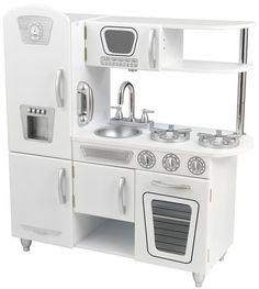 KidKraft White Vintage Kitchen: How fun is this retro-style kitchen?! #YoYo #holidays #toys