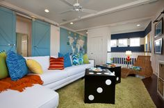 15 Fun Features for Family Rooms Put the family back in your family room with a colorful mural, photo gallery or table ready for your gang's favorite game