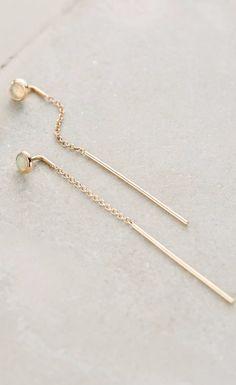 Threaded Opal Earrings