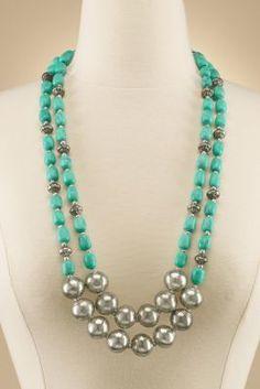 Trailing Turquoise Necklace - Southwestern Style Necklace, Turquoise Bead Necklace | Soft Surroundings