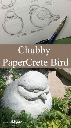 Chubby cartacemento Uccello Caratteristica Madebybarb