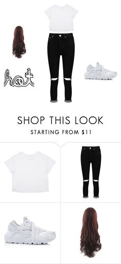 """mooi"" by roxie-deen on Polyvore featuring mode, Boohoo en NIKE"