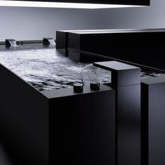 Laminar flow bathtub faucet.  The DEQUE by Dornbracht