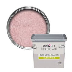 Colours Feature Wall Angelic Sparkle Glitter Emulsion Paint 1L | Departments | DIY at B&Q