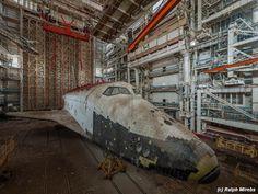 Abandoned Soviet space shuttles