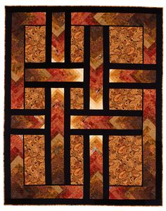 "Lovely ""Autumn Paths"" quilt by Ilene Bartos"