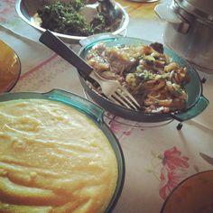 Almoço dia dos pais: angu + bife acebolado + couve (Foto Cintia SIbucs)