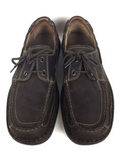 Clarks Shoes Mens Brown Leather Loafers 11.5 #Clarks #LoafersSlipOns