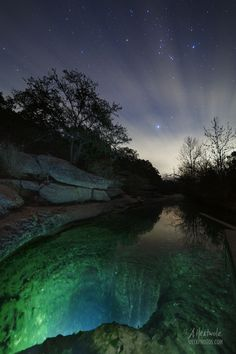 Jacob's Well in Wimberley, TX in December starlight. #night #nature #texas #photography Texas Wall Art, Country Wall Art, Jacobs Well, Texas Photography, O Holy Night, Canvas Prints, Framed Prints, Types Of Lighting, Print Store