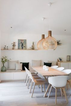 Get inspired by these dining room decor ideas! From dining room furniture ideas, dining room lighting inspirations and the best dining room decor inspirations, you'll find everything here! Dining Room Inspiration, Design Inspiration, Design Ideas, Design Blogs, Modern Kitchen Design, Kitchen Designs, Modern Design, Dining Room Design, Ikea Dining Room