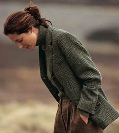 """the-tweed-fox: """" woodburning: """" Orvis Irish Tweed jacket. """" Where does one find a woman that dresses like this (outside of an Orvis or RL catalogue)? """""""