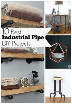 DIY Industrial Pipe Projects are an easy way to add a touch of industrial decor to your home. Here are 10 of the BEST DIY industrial pipe projects for you to try!