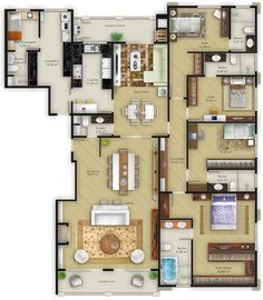 Momento Engenharia – Monte Líbano Sims House Plans, House Layout Plans, Dream House Plans, House Floor Plans, Layouts Casa, House Layouts, Small Space Interior Design, Home Room Design, Pool House Designs