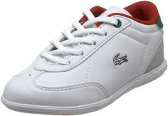 Lacoste Gaston Lace-Up Fashion Sneaker (Toddler/Little Kid/Big Kid) Lacoste. $45.00. Embroidered logo on side. leather. For best care of this product, wipe with a damp cloth for tough stains. On leather, using a leather cleaner is best. Leather. Lace up. Rubber sole