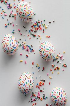 Faux Sprinkles - The Chicest Ways To Decorate Easter Eggs - Photos