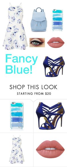 """Fancy Blue day!"" by liafrancescaholmes ❤ liked on Polyvore featuring Kate Spade, Ted Baker, Lipsy, Lime Crime and rag & bone"