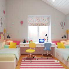 At the beginning of August 2014 design studio Geometrium (Alexei Ivanov and Pavel Gerasimov) took House project in Lipetsk with total area 306 square meters Kids Bedroom Designs, Home Room Design, Kids Room Design, Boy And Girl Shared Bedroom, Girls Bedroom, Bedroom Decor, Girl Rooms, Room Inspiration, Safety Scissors
