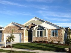 Bach Homes exterior at Copper Canyon Utah Home Builders, Shed, New Homes, Copper, Exterior, Outdoor Structures, Mansions, Landscape, Architecture