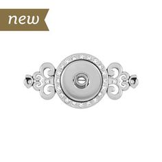Product # S1133 NEW Magnificent Swirl Pin  Magnificent Swirl Pin. Holds 18mm Original Snaps.