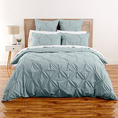 Kissing Pleat Quilt Cover Set - Duck Egg – Target Australia