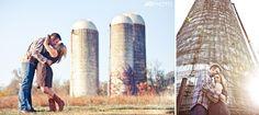 Farm engagement photos with silos  www.JoPhotoOnline.com