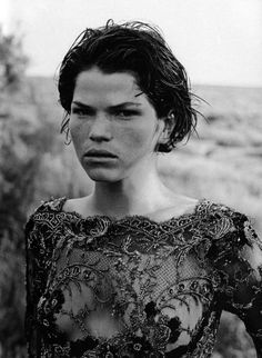 Zoe Gaze by Peter Lindbergh (Vogue Italia)  #female #model