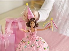 Birthday Cake Ideas: How to make a princess doll birthday cake. Birthday Cake Ideas: How to make a princess doll birthday cake Any little birthday girl would love this magical unique princess doll cake for her party, decorated with a real doll she can Doll Birthday Cake, Barbie Birthday, Princess Birthday, Princess Party, Girl Birthday, Birthday Ideas, Princess Barbie, Princess Cakes, Birthday Parties