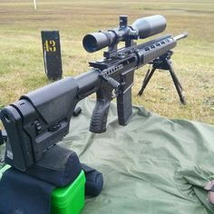 AR15 in SPR style performing well @600yds #guns #rifle #ar15 #shooting #leupold #magpul #straightpull