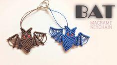 Macrame keychain tutorial: the simple bat-Easy macrame animal pattern - Hướng dẫn làm con dơi - Смотреть видео бесплатно онлайн Micro Macrame Tutorial, Macrame Jewelry Tutorial, Bracelet Tutorial, Macrame Wall Hanging Diy, Macrame Plant Hangers, Macrame Earrings, Macrame Bracelets, Loom Bracelets, Chevron Friendship Bracelets
