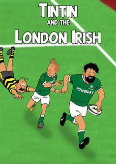 Les Aventures de Tintin - Album Imaginaire - Tintin and the London Irish