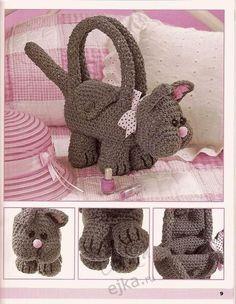Маленькие сумочки - зверюшки для девочек своими руками - вязание крючком, мастер класс
