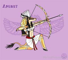 Goddess Anuket Holding Bow