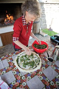 HORTOPITA (SWISS CHARD AND FETA PIE). Step by step written and pictorial instructions for homemade dough and filling.