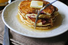 Strawberry Buttermilk Pancakes.... YUM!
