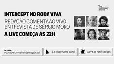 INTERCEPT COMENTA AO VIVO MORO NO RODA VIVA Glenn Greenwald, The Intercept, Photo Wall, Living Alone, Interview, Photograph