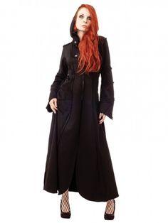 Ankle-Length Hooded Coat | #queenofdarkness #qod #goth #gothic #gothgoth